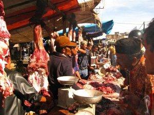 Suasana Meugang di Aceh Barat