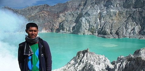 At Ijen Crater