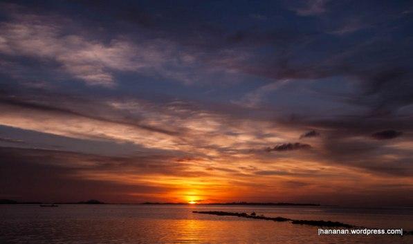 Sunset at Pulau Balai
