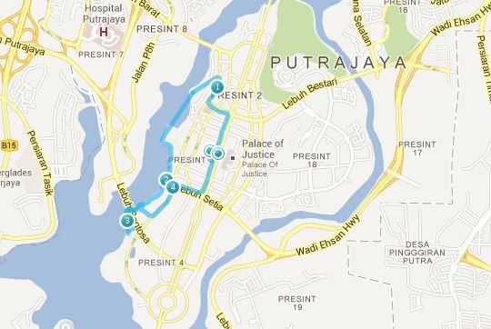 Putrajaya map