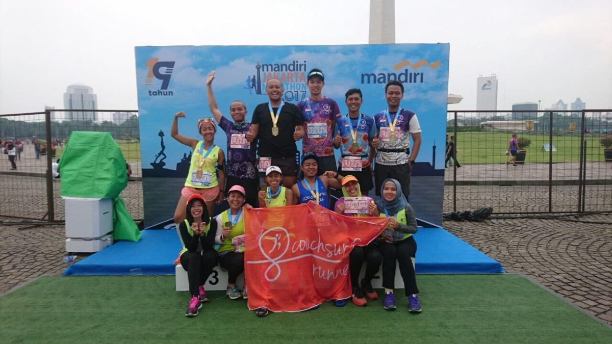 Melepas Virgin Full Marathon di Jakarta Marathon2017